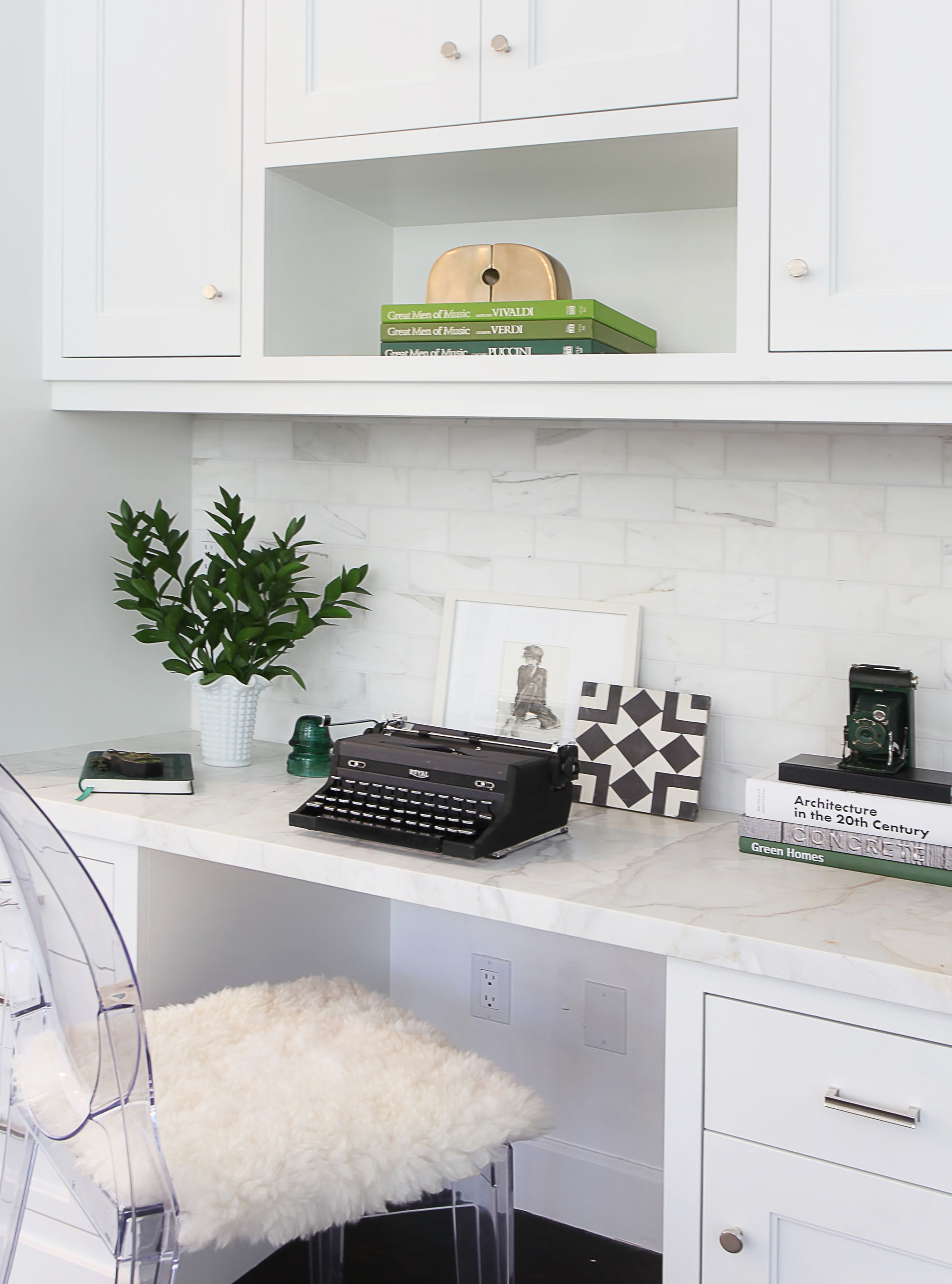 White Kitchen Office Melissa Morgan Design 2