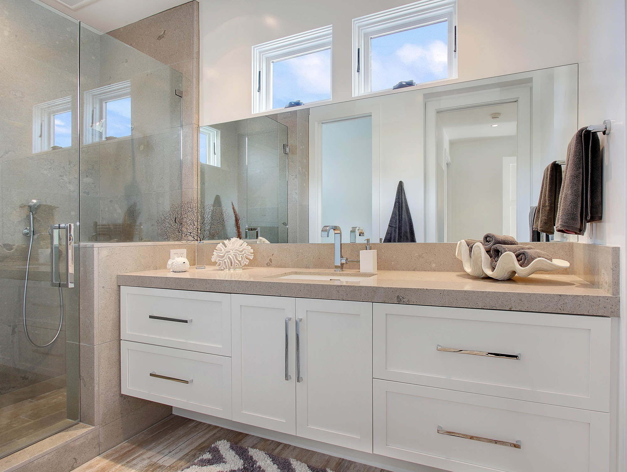 Limestone Bathroom Melissa Morgan Design