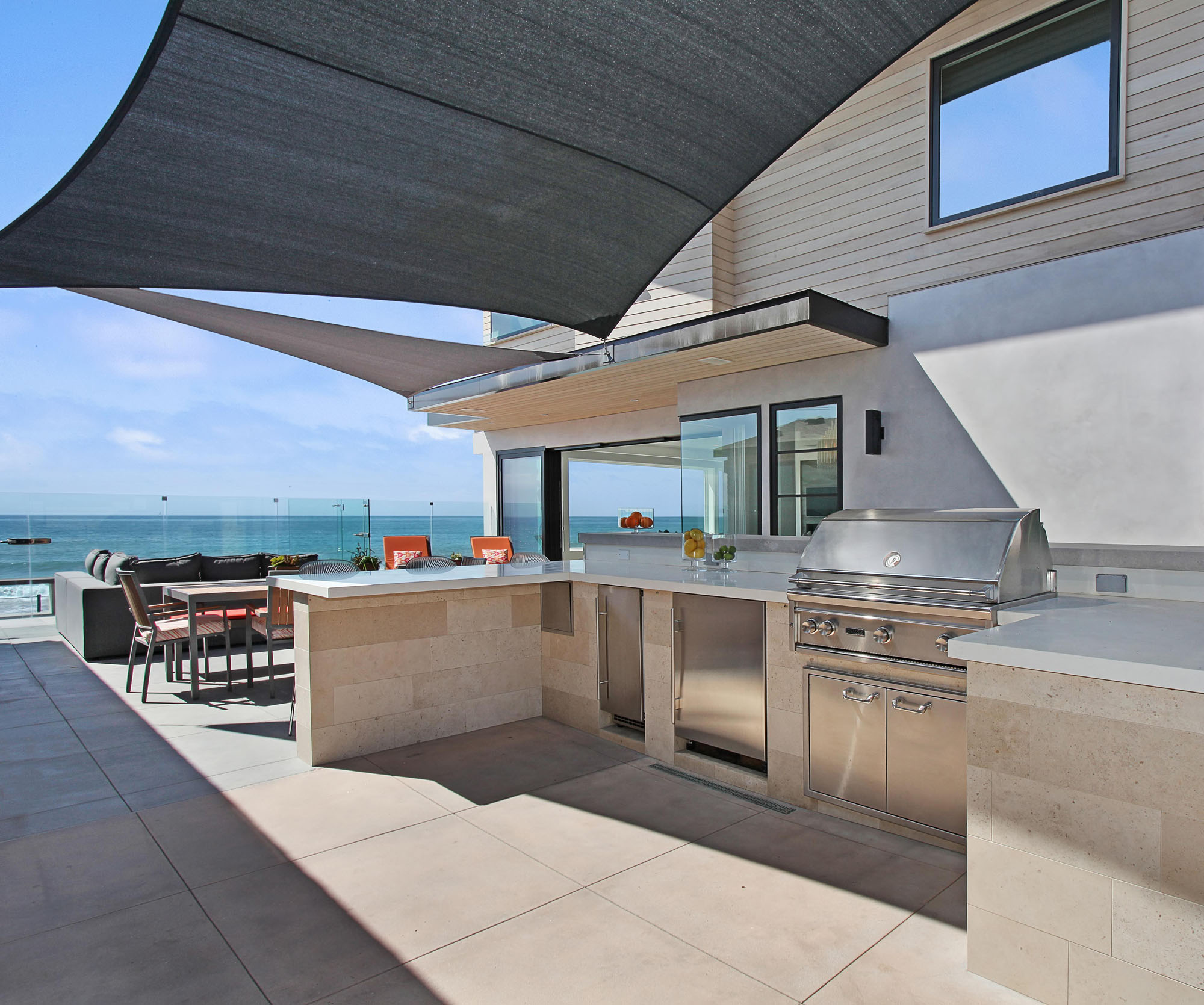 Modern Outdoor Barbeque Melissa Morgan Design
