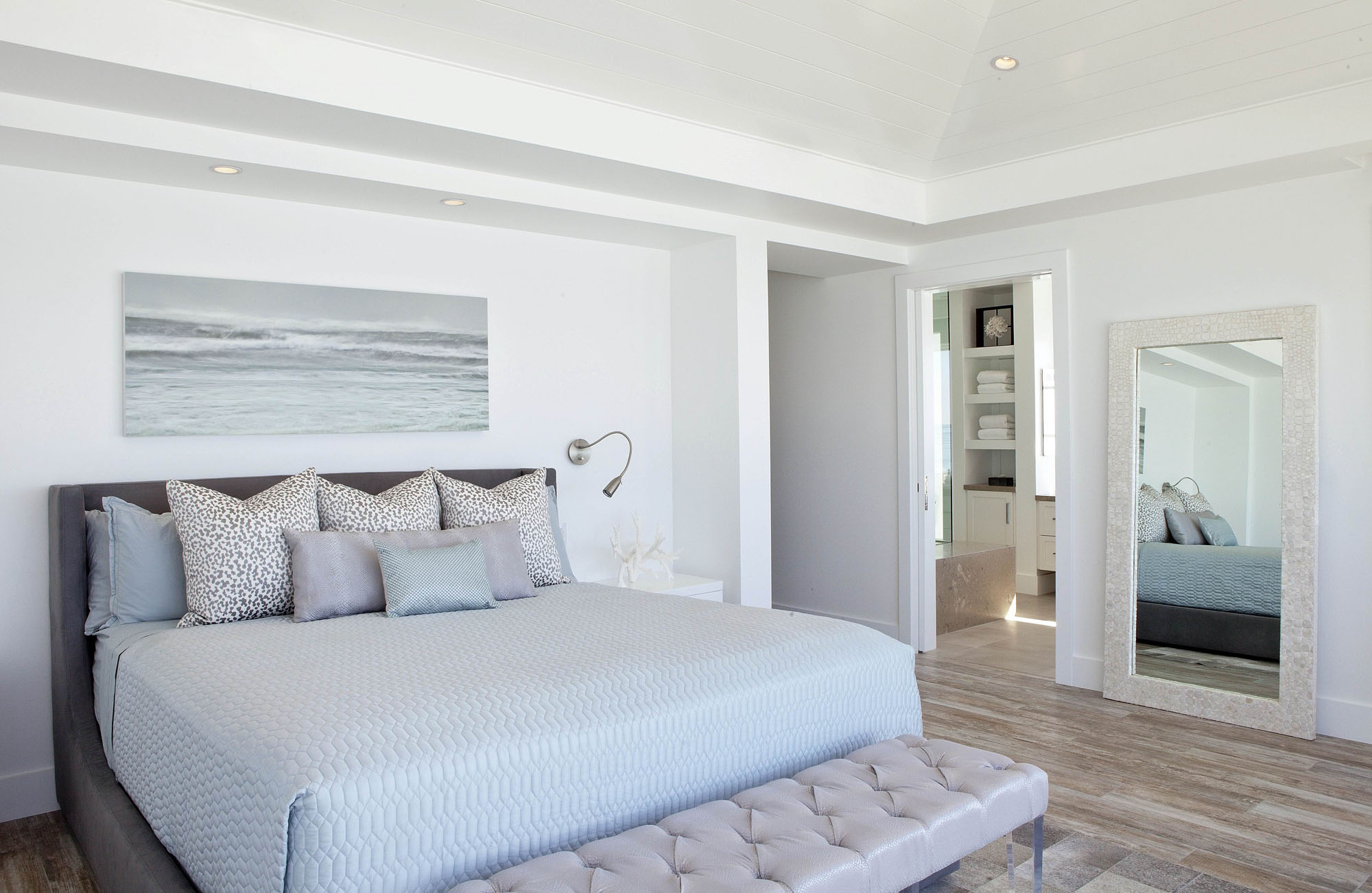 Modern Bedroom Laguna Beach Melissa Morgan Design