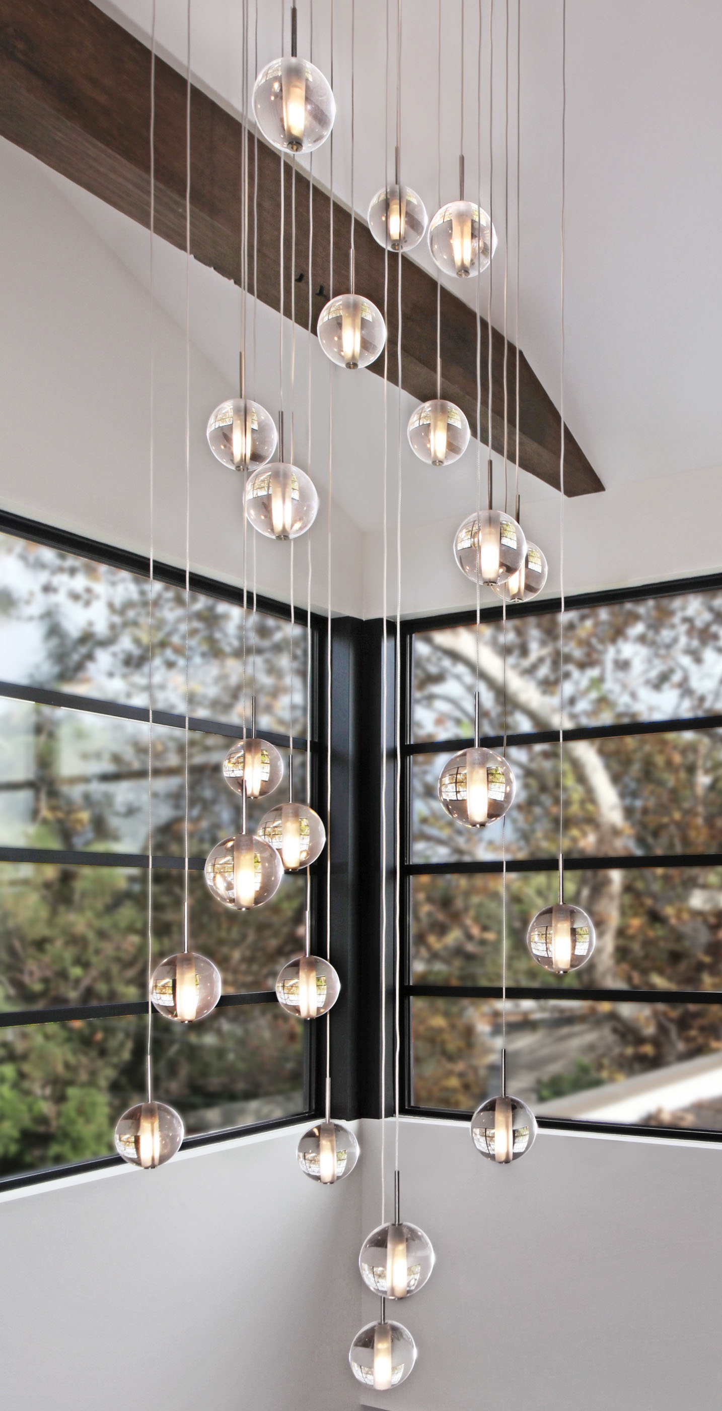 Glass Staircase Chandelier Melissa Morgan Design