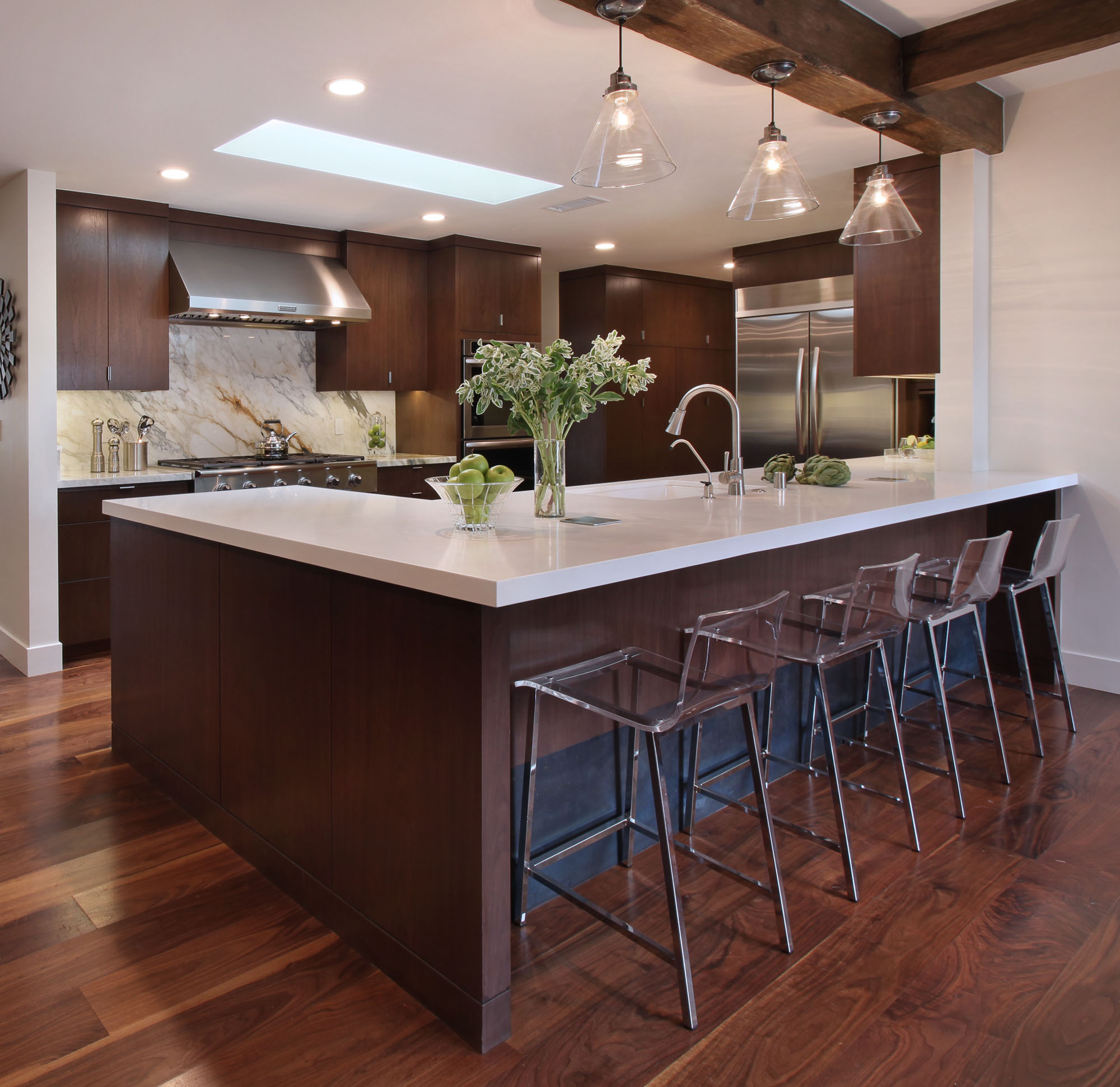 Walnut Wood Kitchen Design Melissa Morgan Design