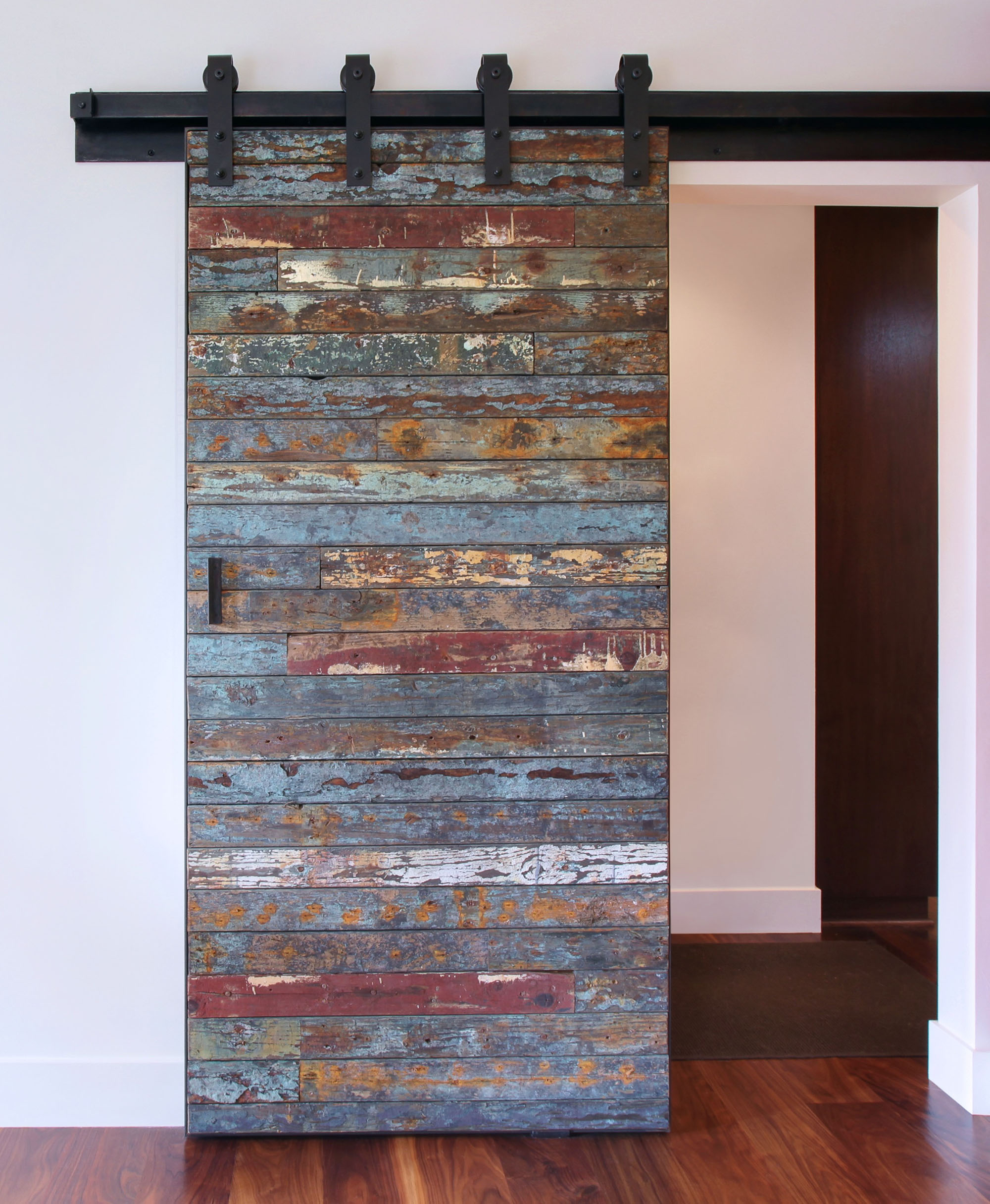 Reclaimed Wood Barn Door Melissa Morgan Design