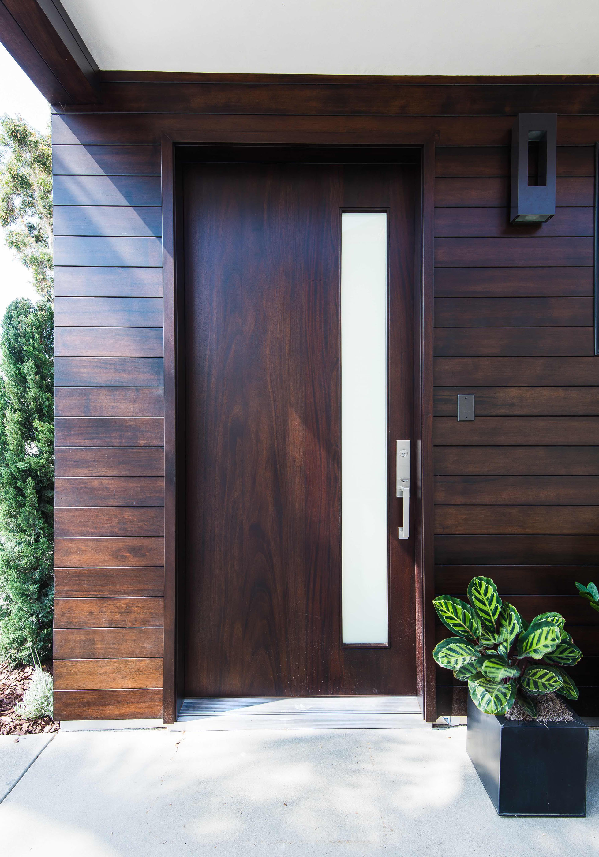 Modern Wood Front Door Melissa Morgan Design 2