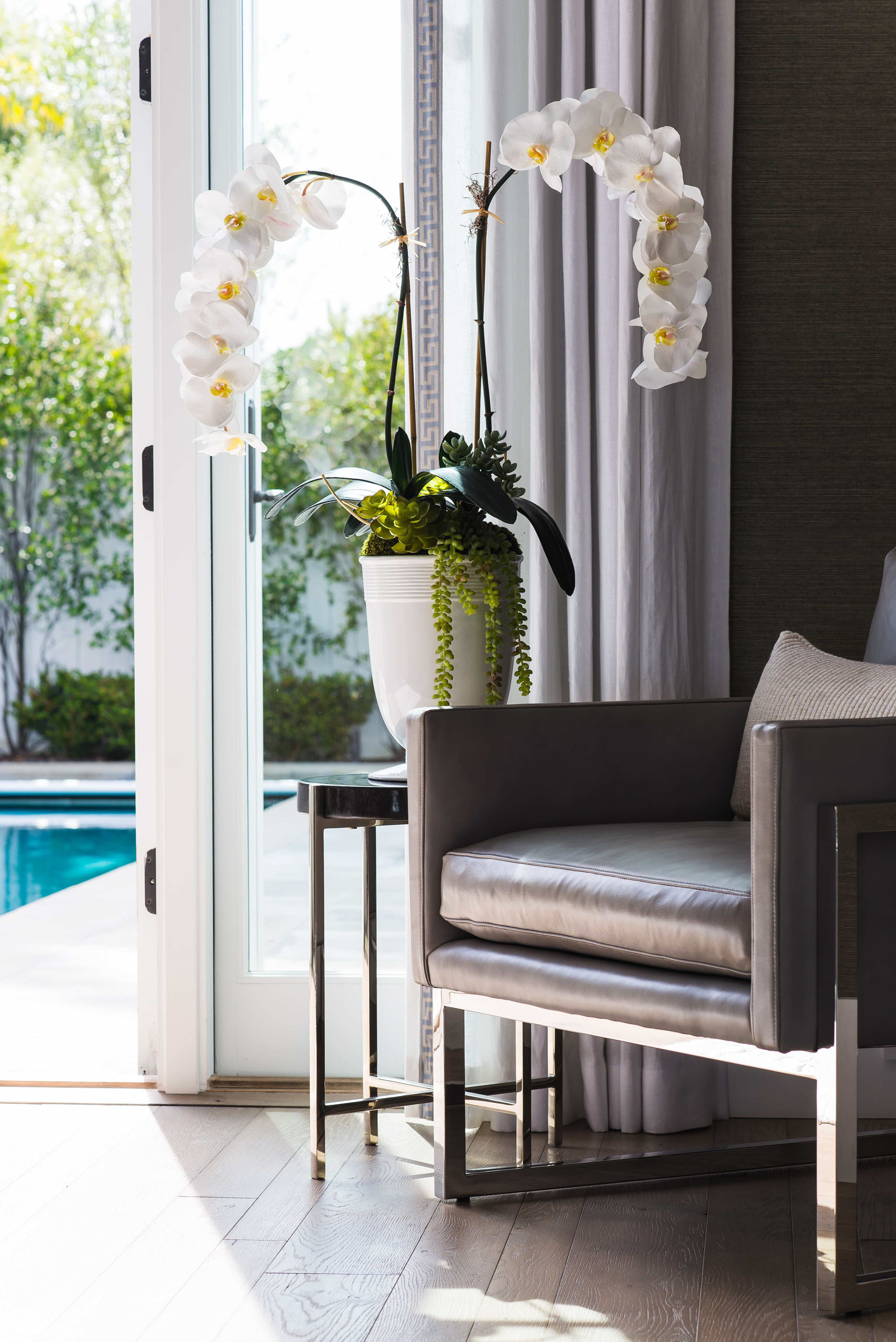 Bedroom Chair Newport Beach Melissa Morgan Design 1