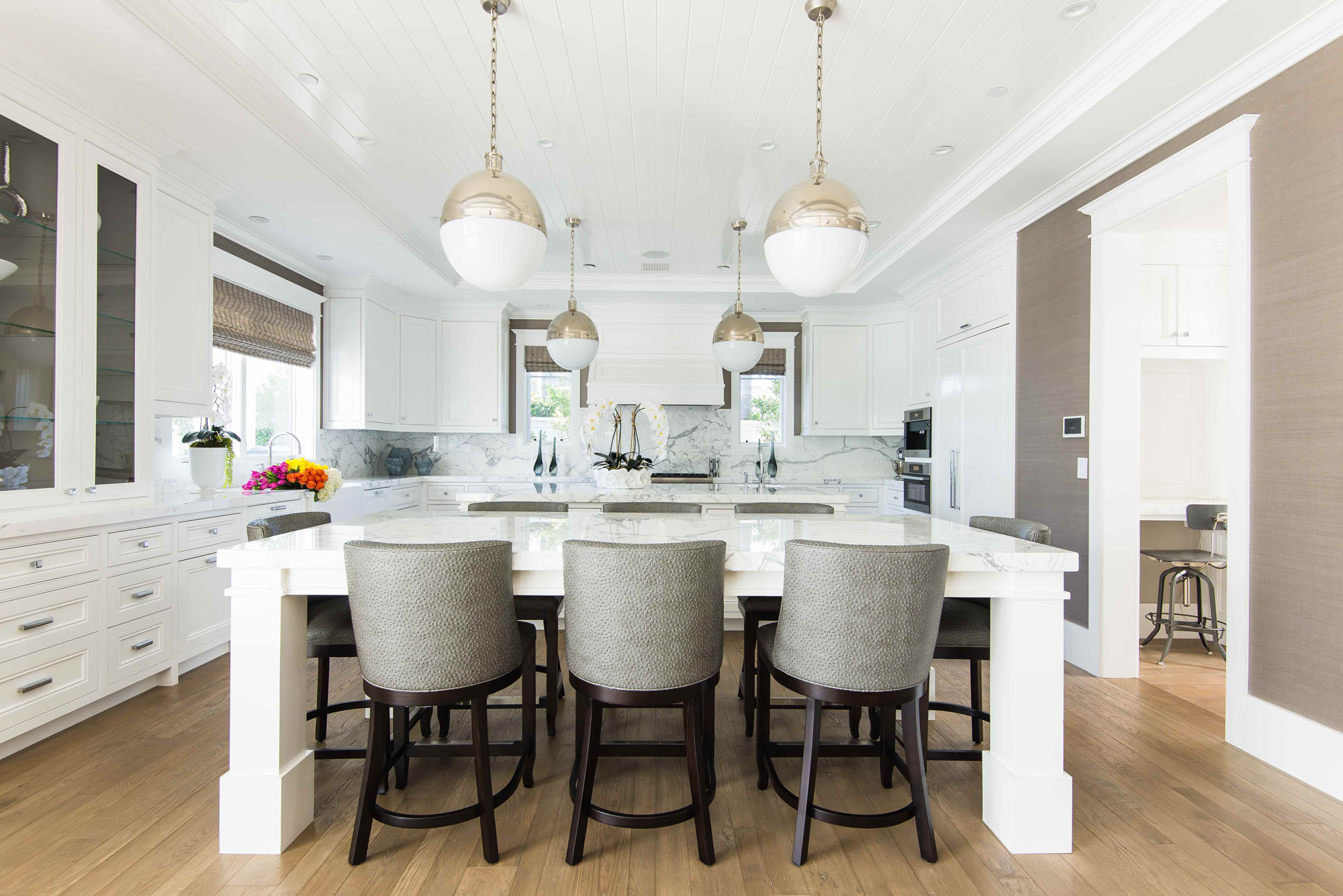White Kitchen Newport Beach Melissa Morgan Design