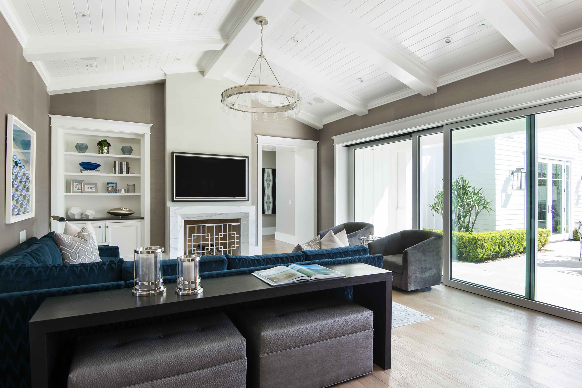 Familyroom Newport Beach Melissa Morgan Design