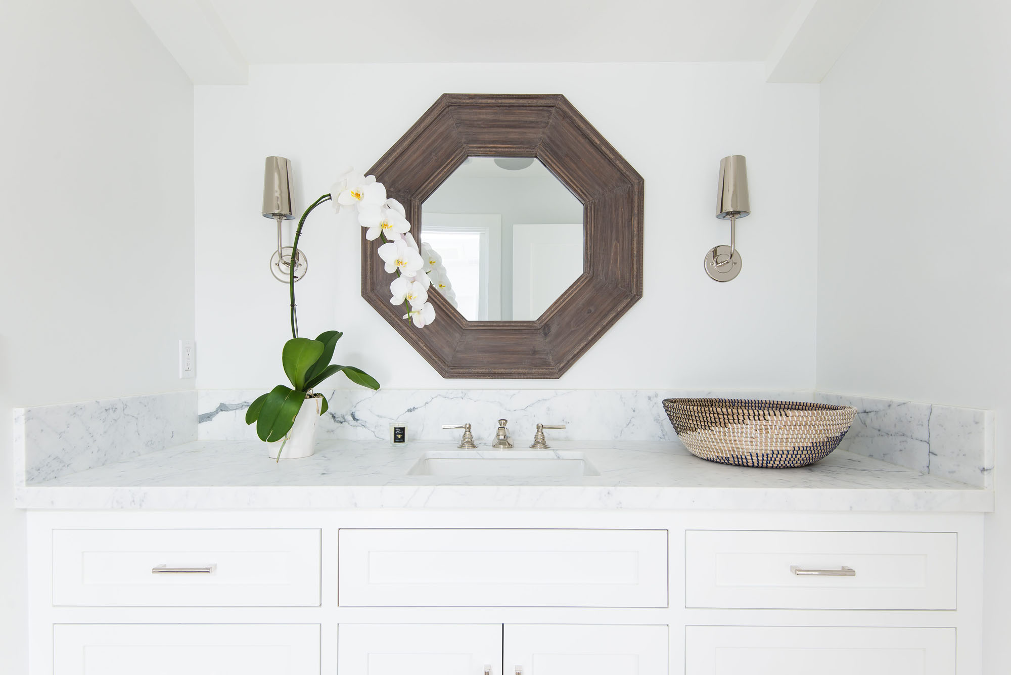 Bathroom Marble Countertops Restoration Hardware Modern Melissa Morgan Design