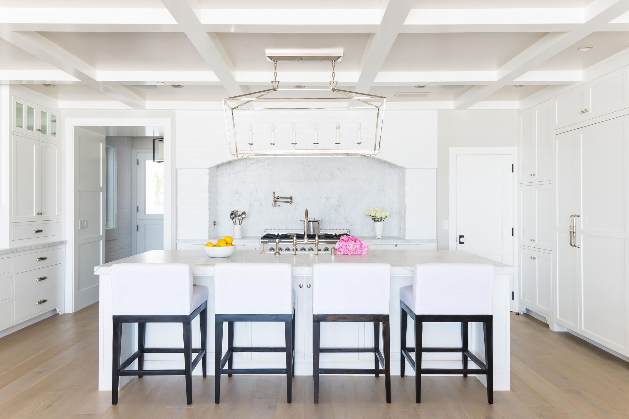 Balboa Kitchen White Woodwork Marble Melissa Morgan Design