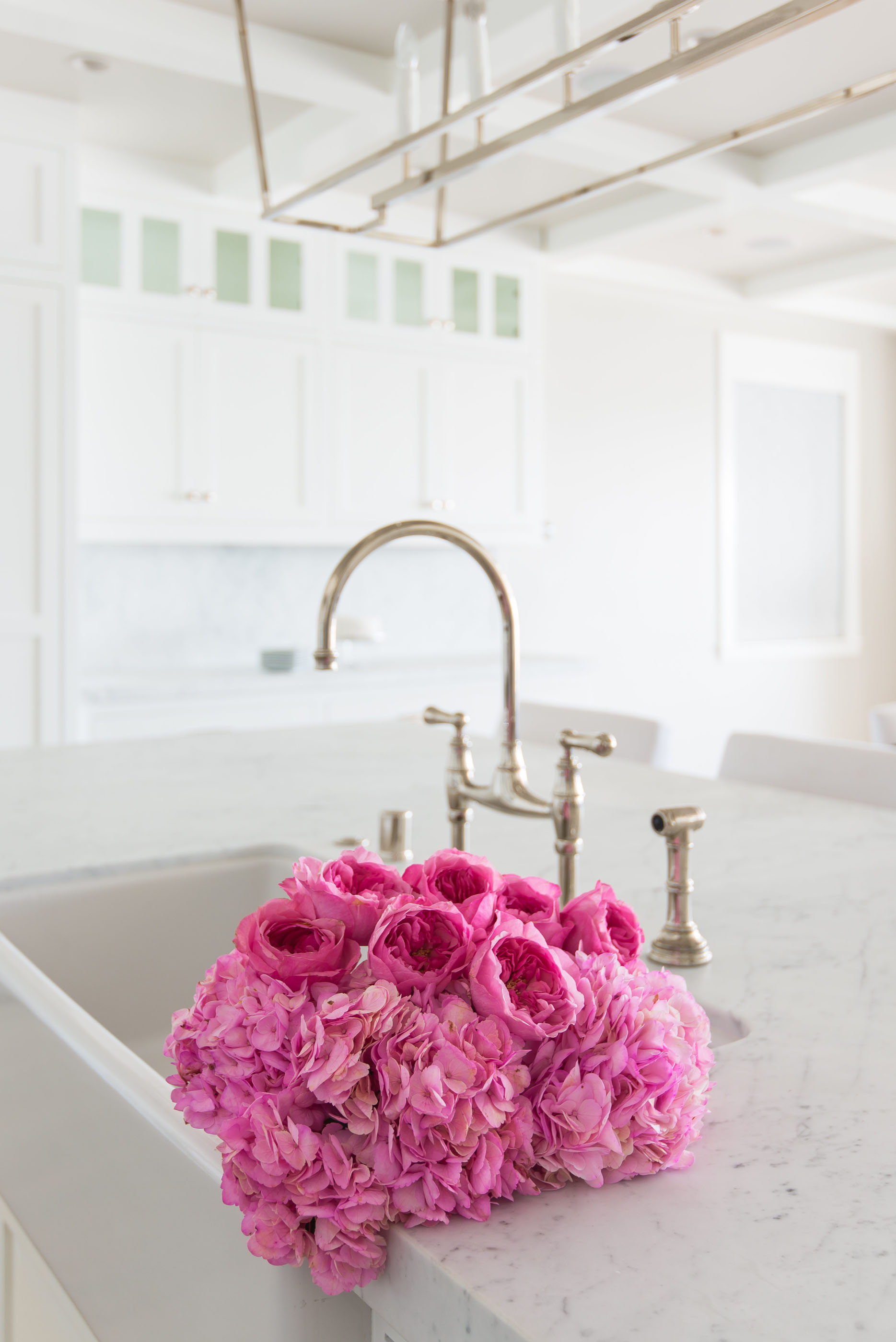 Rohl Faucet Beach House Kitchen Melissa Morgan Design