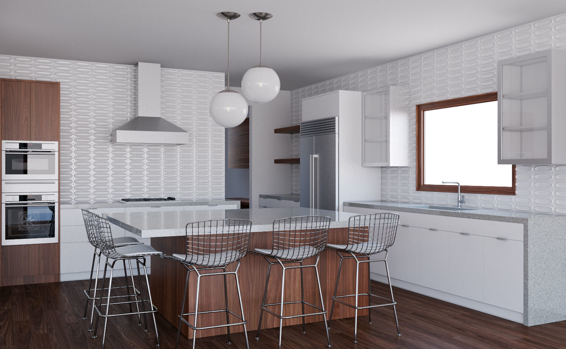In This Midcentury Modern Kitchen Composition We Combined A Retro Aesthetic With Functionality
